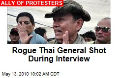 Rogue Thai General Shot During Interview