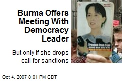 Burma Offers Meeting With Democracy Leader