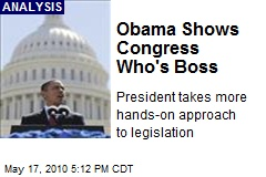 Obama Shows Congress Who's Boss
