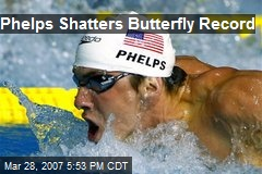 Phelps Shatters Butterfly Record