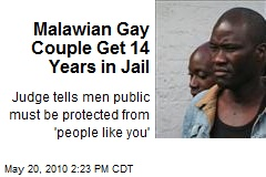 Malawian Gay Couple Get 14 Years in Jail