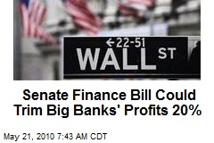 Financial Bill Could Trim Big Banks' Profits 20%