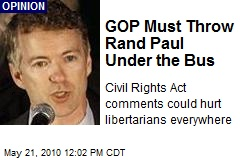 GOP Must Throw Rand Paul Under the Bus