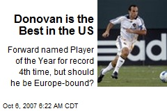 Donovan is the Best in the US