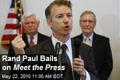 Rand Paul Bails on Meet the Press
