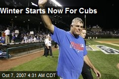 Winter Starts Now For Cubs