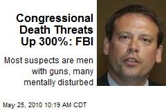 Congressional Death Threats Up 300%: FBI