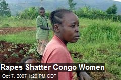 Rapes Shatter Congo Women