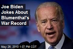 Joe Biden Jokes About Blumenthal's War Record
