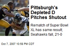 Pittsburgh's Depleted D Pitches Shutout