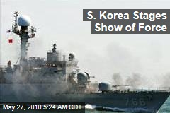 S. Korea Stages Show of Force