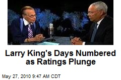 Larry King's Days Numbered as Ratings Plunge