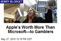 Apple's Worth More Than Microsoft—to Gamblers