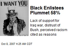 Black Enlistees Plummet 58%