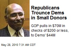 Republicans Trounce Dems in Small Donors