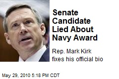 Senate Candidate Lied About Navy Award