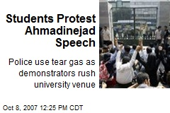Students Protest Ahmadinejad Speech