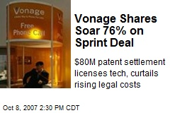 Vonage Shares Soar 76% on Sprint Deal