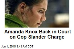 Amanda Knox Back in Court on Cop Slander Charge