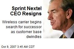 Sprint Nextel CEO Resigns