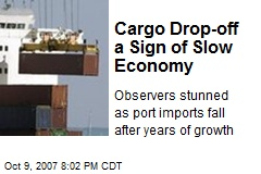 Cargo Drop-off a Sign of Slow Economy