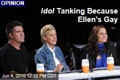 Idol Tanking Because Ellen's Gay