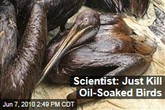 Scientist: Just Kill Oil-Soaked Birds