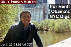 For Rent: Obama's NYC Digs