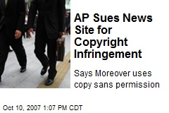 AP Sues News Site for Copyright Infringement