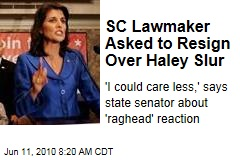 SC Lawmaker Asked to Resign Over Haley Slur