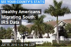Wealthy Americans Migrating South: IRS Data
