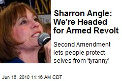 Sharron Angle: We're Headed for Armed Revolt