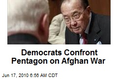 Democrats Confront Pentagon on Afghan War