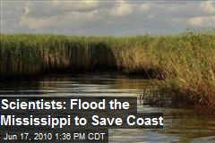 Scientists: Flood the Mississippi to Save Coast