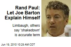 Rand Paul: Let Joe Barton Explain Himself