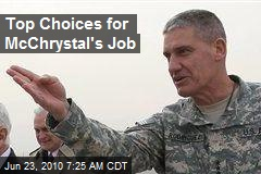 Top Choices for McChrystal's Job