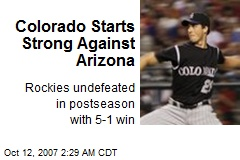 Colorado Starts Strong Against Arizona