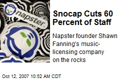 Snocap Cuts 60 Percent of Staff