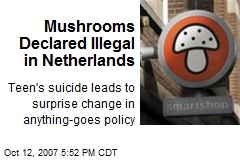 Mushrooms Declared Illegal in Netherlands