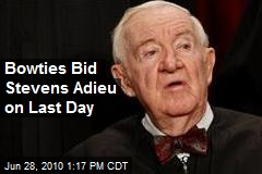 Bowties Bid Stevens Adieu on Last Day