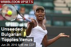 Unseeded Bulgarian Topples Venus