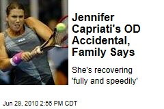 Jennifer Capriati's OD Accidental, Family Says