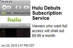 Hulu Debuts Subscription Service