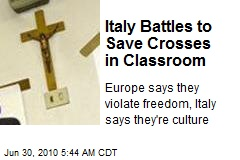 Italy Battles to Save Crosses in Classroom