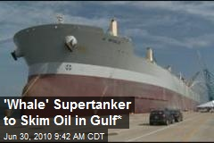 Enormous Supertanker to Skim Oil in Gulf*
