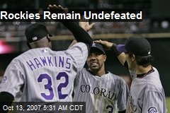 Rockies Remain Undefeated