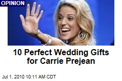 10 Perfect Wedding Gifts for Carrie Prejean
