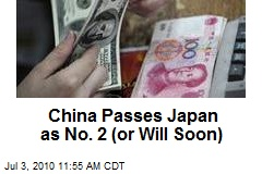 China Passes Japan as No. 2 (or Will Soon)