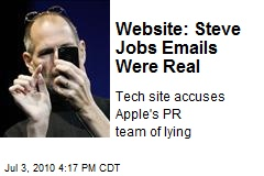 Website: Steve Jobs Emails Were Real