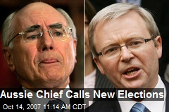 Aussie Chief Calls New Elections